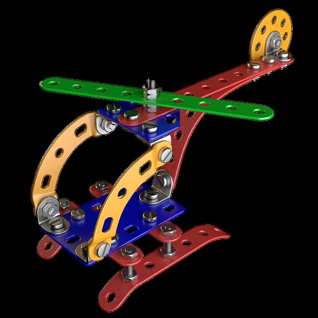 kovová konstrukce vrtulníku