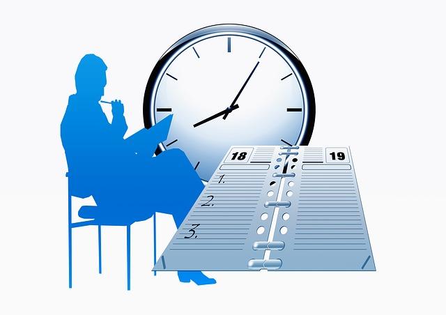 muž, hodiny a kalendář
