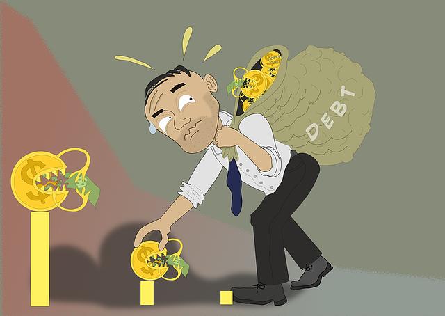 zadlužený člověk