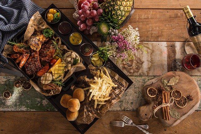 talíř potravin